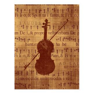Antique look Violin Postcards