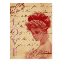 Antique Love Letter Post Card