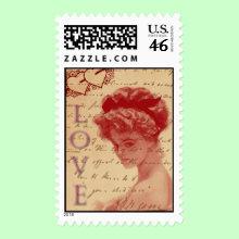 Antique Love Letter Stamp