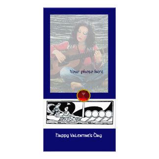 ANTIQUE LOVE RUBY,blue Photo Card