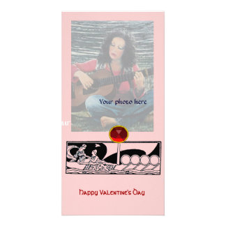 ANTIQUE LOVE RUBY ,pink Photo Card