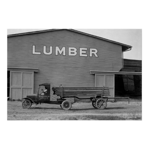Antique Lumber Truck: 1925 Posters