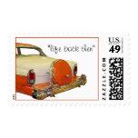antique M car stamp - customize