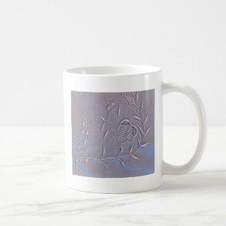 Antique Madeira Embroidered Flowers Coffee Mug