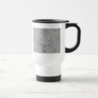 Antique Madeira Seedstitching Travel Mug