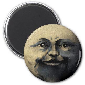 Antique Magical Moon Face Fridge Magnet