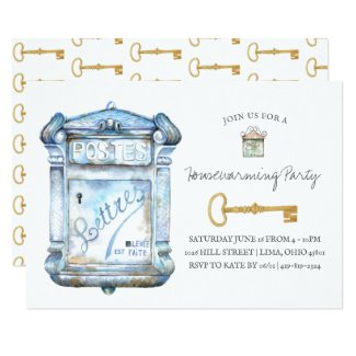 Antique Mailbox | Housewarming Invitation