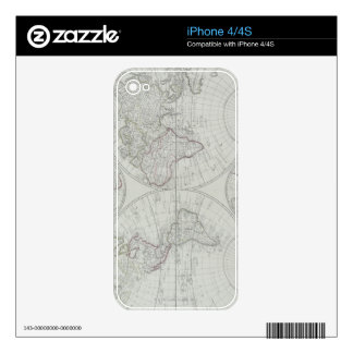 Antique Map 2 Decal For The iPhone 4S