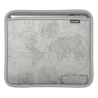 Antique Map 2 Sleeve For iPads