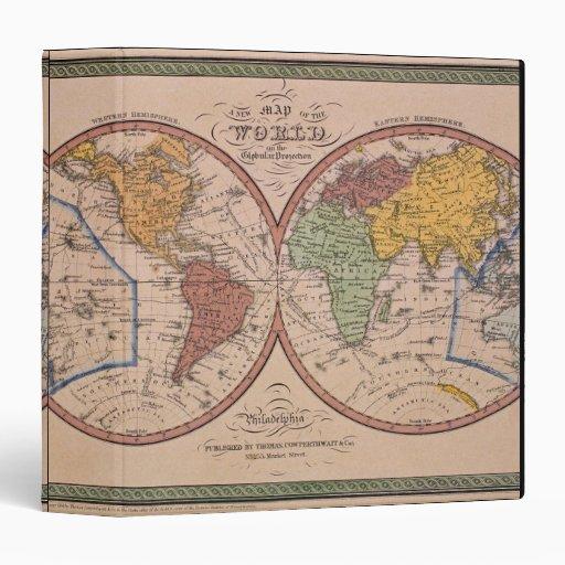 Antique Map 3 Ring Binder