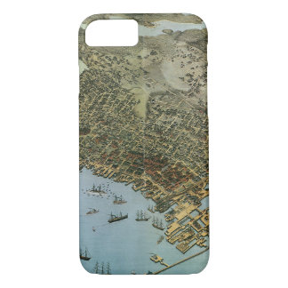 Antique Map Aerial View City of Seattle Washington iPhone 7 Case