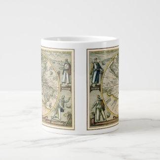 Antique Map, America Sive Novus Orbis, 1596 Large Coffee Mug