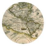 Antique Map, America Sive Novus Orbis Invitation