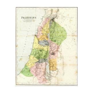 Antique Map - Biblical Palestine Canvas Print
