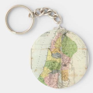 Antique Map - Biblical Palestine Keychain