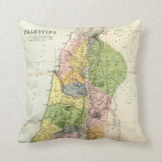 Antique Map - Biblical Palestine Throw Pillows