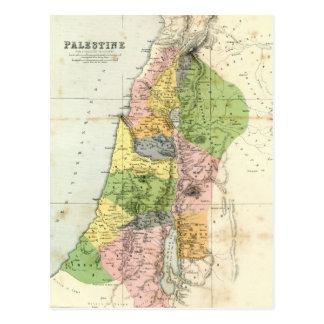 Antique Map - Biblical Palestine Postcard