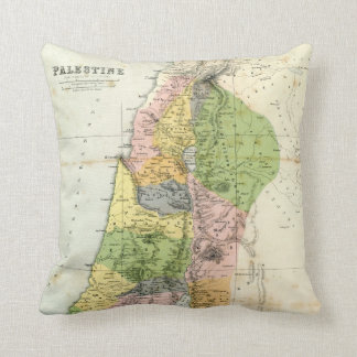 Antique Map - Biblical Palestine Throw Pillow
