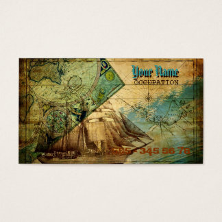 Antique Map - Business Card