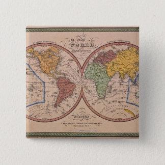 Antique Map Button