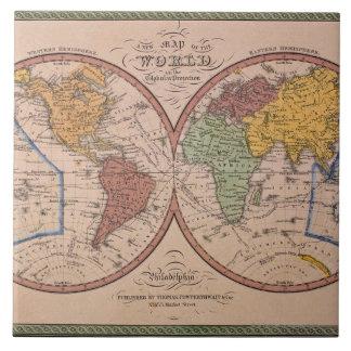 Antique Map Ceramic Tile