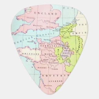 Antique Map Europe Design Guitar Pick