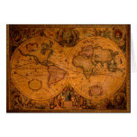 ANTIQUE MAP Greeting Cards