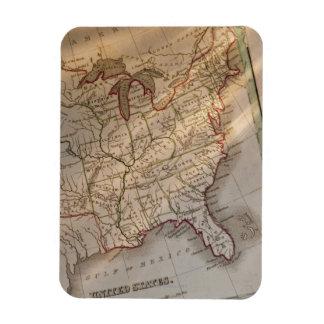 Antique map magnet