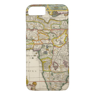 Antique Map of Africa by Hondius and Jansson iPhone 8/7 Case