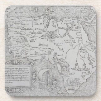 Antique Map of Africa Drink Coaster