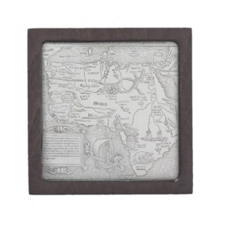 Antique Map of Africa Gift Box
