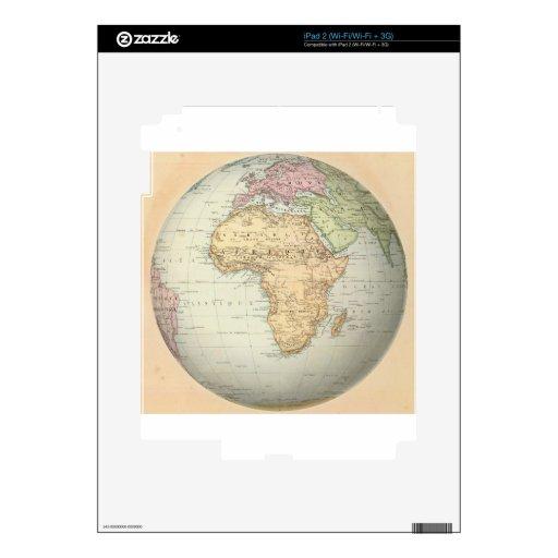 Antique map of Africa iPad 2 Skins