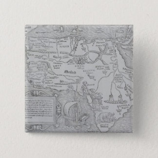 Antique Map of Africa Pinback Button