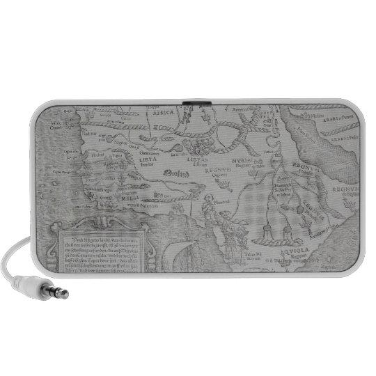 Antique Map of Africa Portable Speaker
