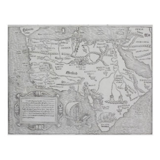 Antique Map of Africa Postcard