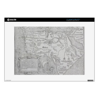 """Antique Map of Africa 15"""" Laptop Decal"""