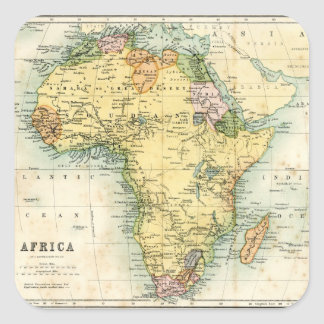 Antique map of Africa Sticker