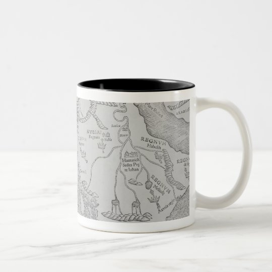 Antique Map of Africa Two-Tone Coffee Mug