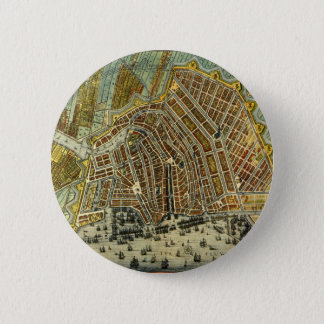 Antique Map of Amsterdam, Holland aka Netherlands Button