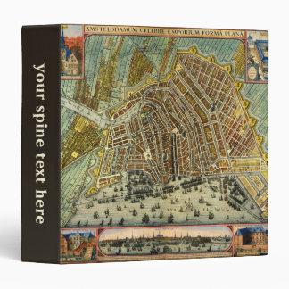 Antique Map of Amsterdam, Netherlands, Holland Vinyl Binder