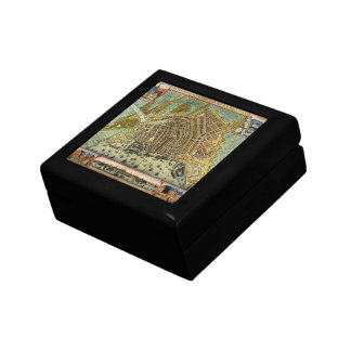 Antique Map of Amsterdam, Netherlands, Holland Jewelry Boxes