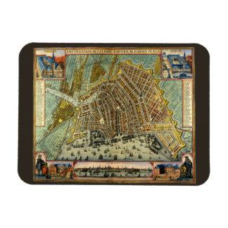 Antique Map of Amsterdam, Netherlands, Holland Rectangle Magnet