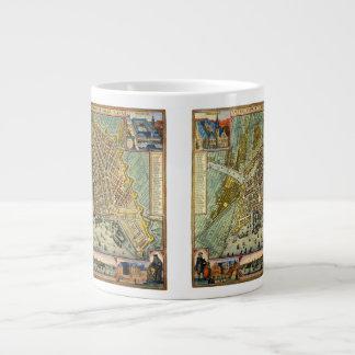 Antique Map of Amsterdam, Netherlands, Holland Jumbo Mug