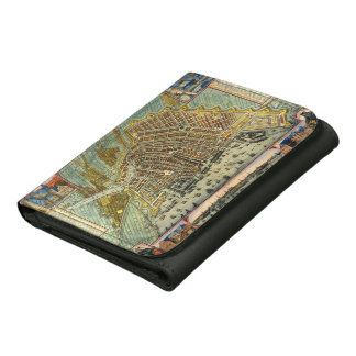 Antique Map of Amsterdam, Netherlands, Holland Trifold Wallet