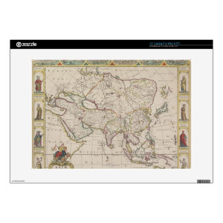 "Antique Map of Asia Decals For 15"" Laptops"