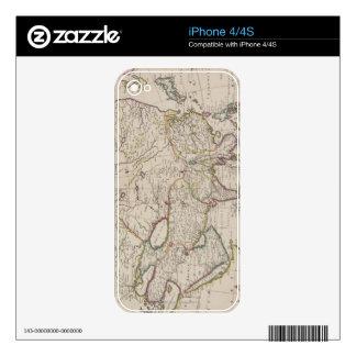 Antique Map of Asia iPhone 4S Decals