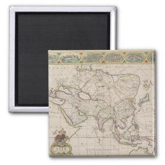Antique Map of Asia Fridge Magnets