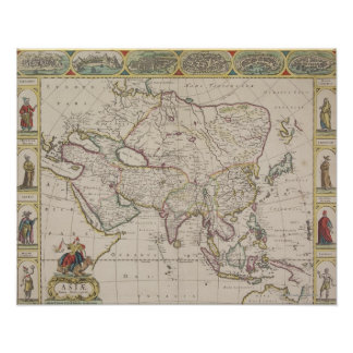 Antique Map of Asia Poster