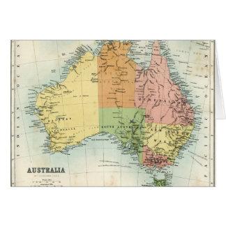 Antique map of Australia Card