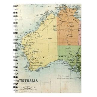Antique map of Australia Notebook
